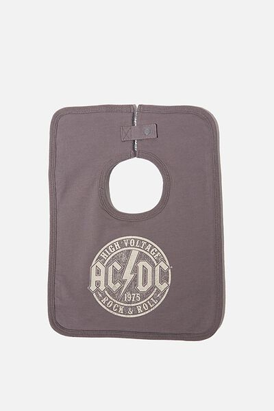 The Everyday Bib, LCN PER RABBIT GREY/AC/DC