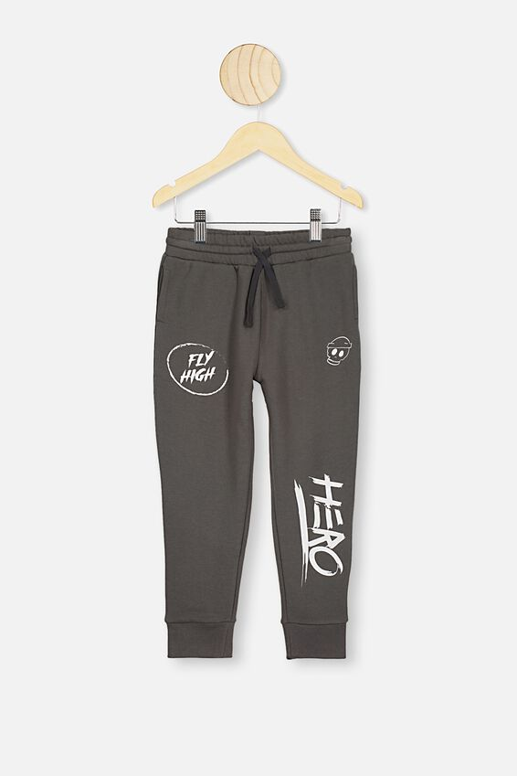 Heritage Trackpant, IRON GREY/FLY HIGH
