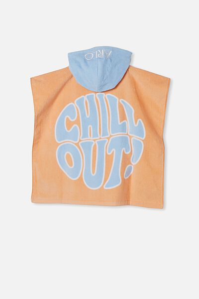 Hooded Towel -Personalised, DARK MELON CHILL OUT