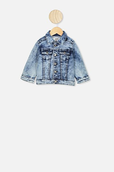 Sonny Jacket, BLACK DENIM WASH