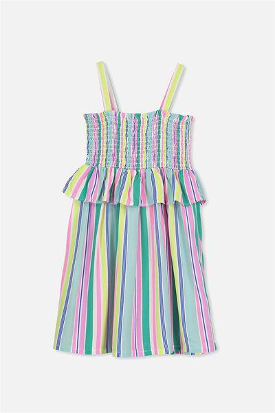 Sia Beach Dress, VANILLA/BEACH STRIPE