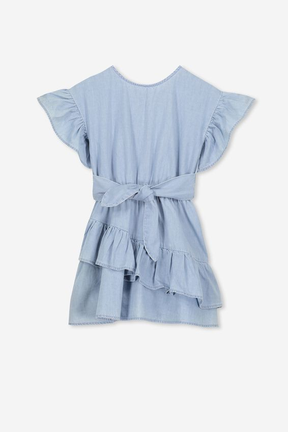 Jodie Short Sleeve Dress, LIGHT WASH