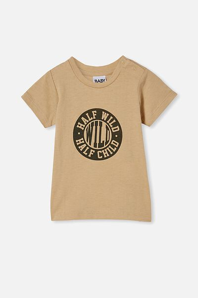 Jamie Short Sleeve Tee, SEMOLINA/HALF WILD HALF CHILD