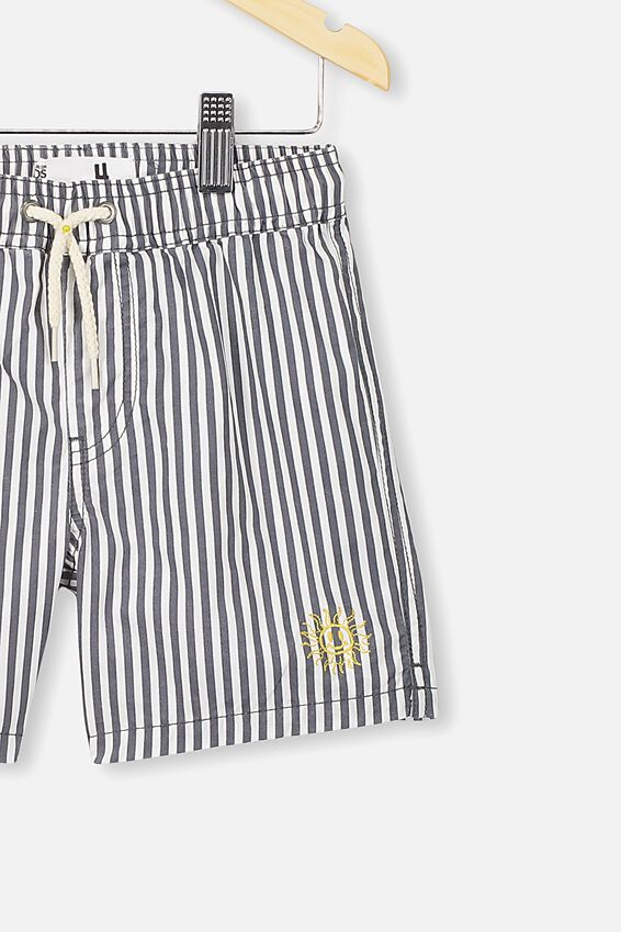 Volly Short, NAVY/WHITE VERTICAL STRIPE