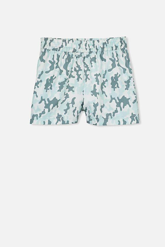 Boys Pyjama Short, MINT CAMO