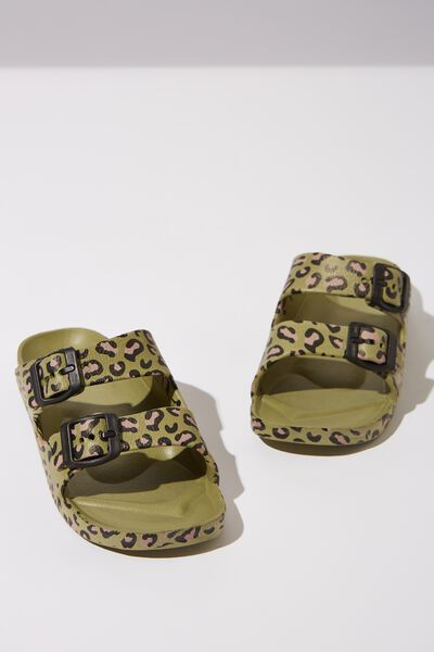 Twin Strap Slide, LEOPARD