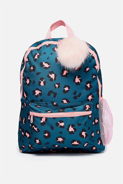 School Backpack, GREEN LEOPARD