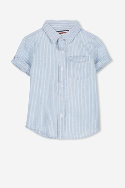 Jackson Short Sleeve Shirt, CHAMBRAY STRIPE