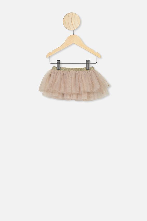Florence Tulle Skirt, GOLD GLITTER