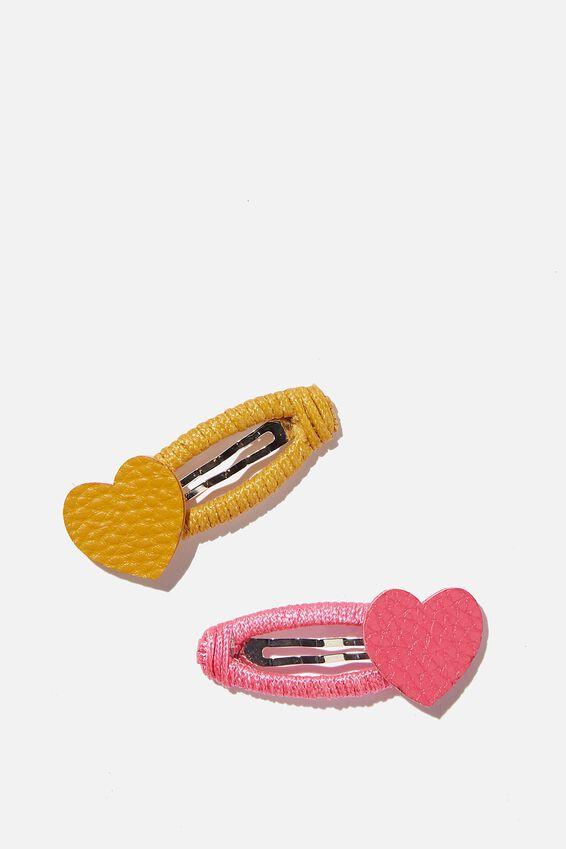 Hair Clip - Matte Heart, STRAWBERRY POP APRICOT HEART