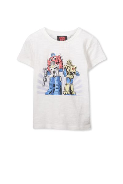 Boys Transformers Short Sleeve Tee, VANILLA/FOIL TRANSFORMERS