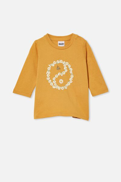Jamie Long Sleeve Tee, VINTAGE HONEY/DAISY YIN YANG