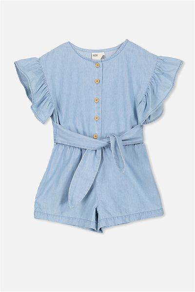 Jodie Short Jumpsuit, BLEACH WASH