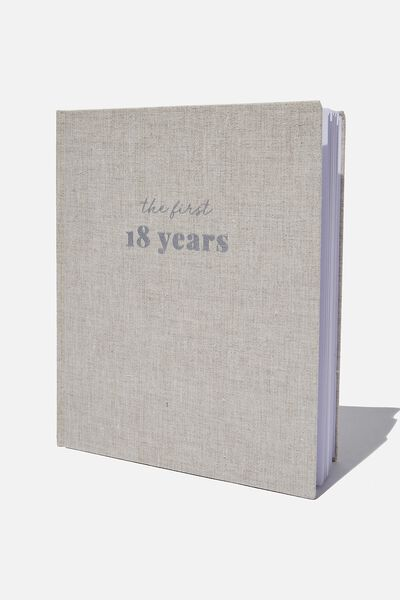 Baby Book, 18 YEARS GREY