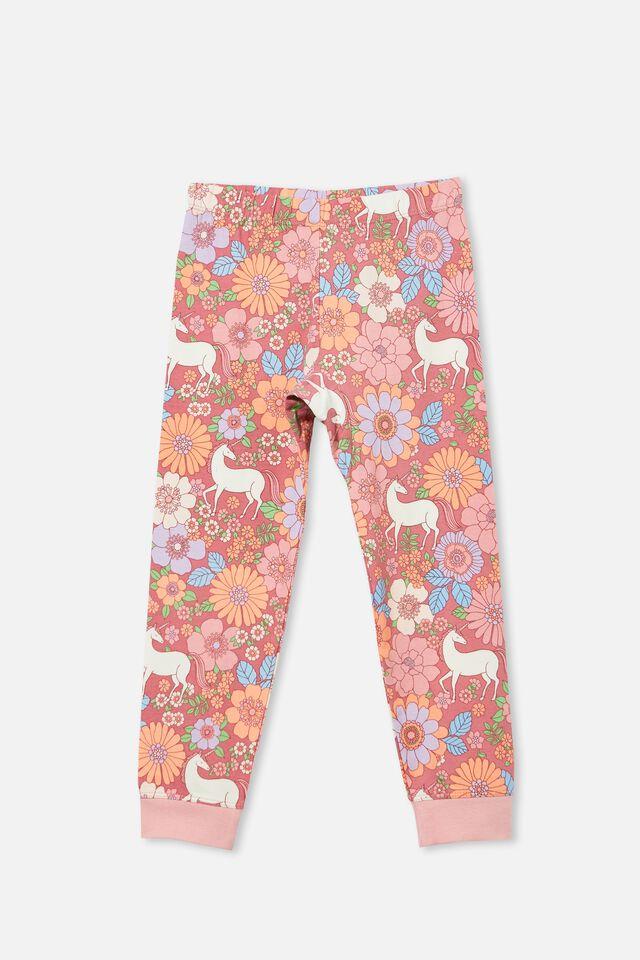 Florence Long Sleeve Pyjama Set, UNICORN GARDEN/VERY BERRY