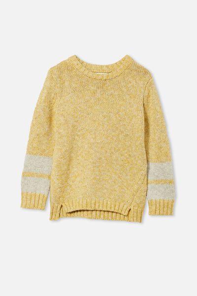 Blair Knit Crew, HONEY GOLD TWIST/STRIPE