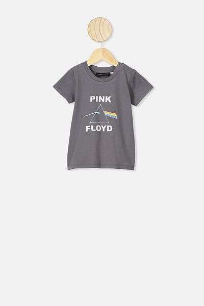 Jamie Short Sleeve Tee, LCN PER RABBIT GREY PINK FLOYD TRIANGLE