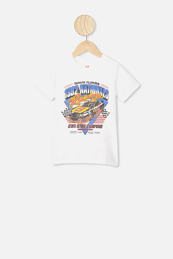 Max Short Sleeve Tee, RETRO WHITE/NATIONALS