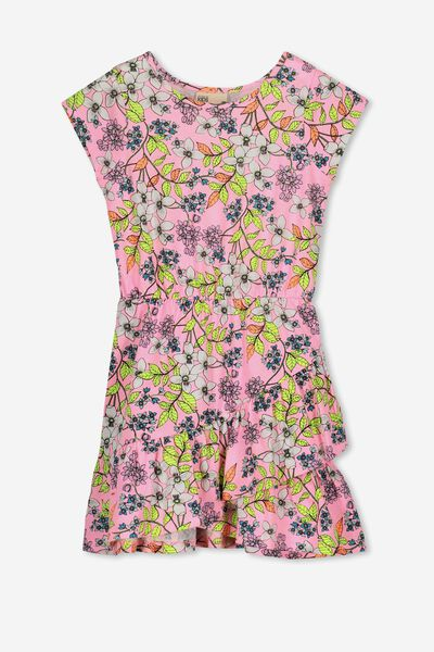 Joey Short Sleeve Dress, PERRY PINK RETRO FLORAL