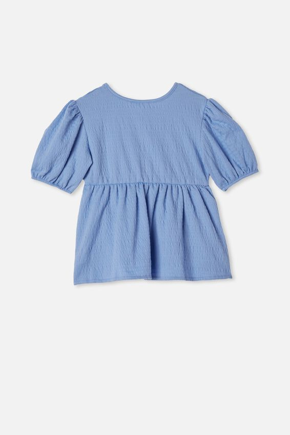 Carla Puff Sleeve Top, DUSK BLUE