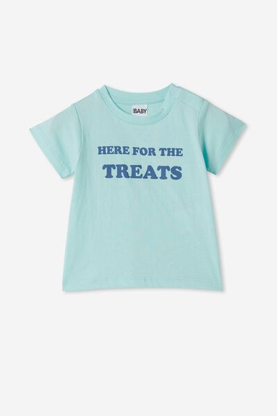 Jamie Short Sleeve Tee, DREAM BLUE/HERE FOR THE TREATS