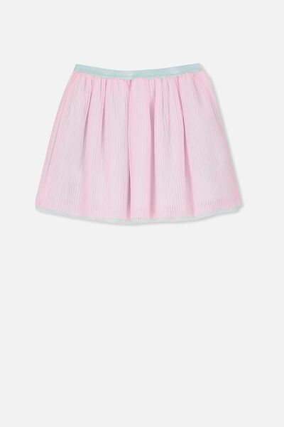 Trixiebelle Tulle Skirt, PERRY PINK/PLEATED