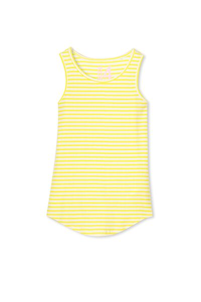 Brooke Singlet, VANILLA/CITRUS YELLOW STRIPE