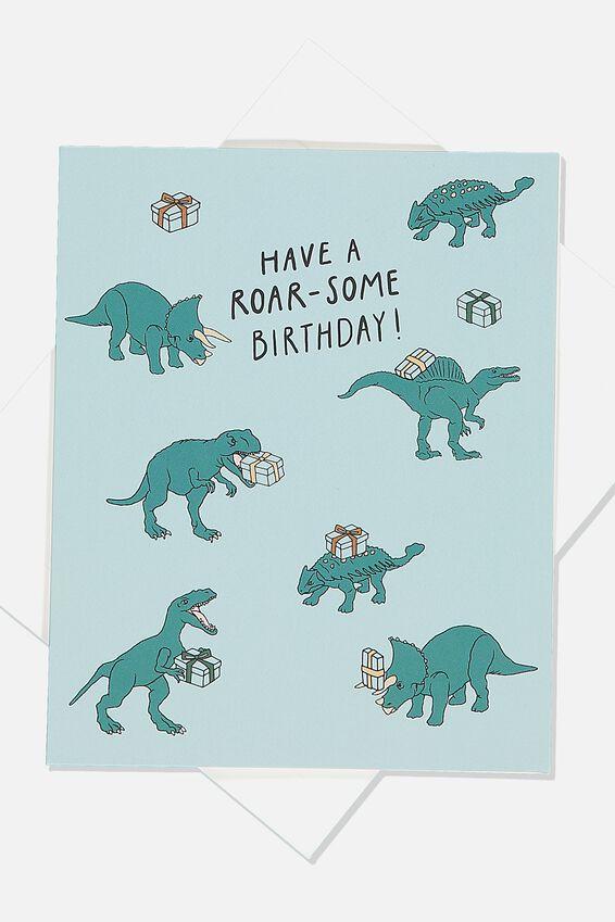 Birthday Gift Card, DINO PRESENT