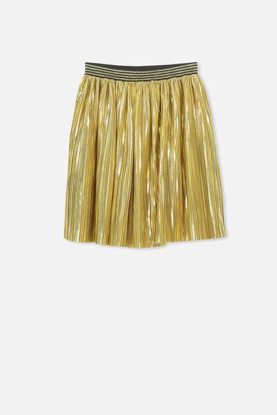 Kelis Dress Up Skirt, GOLD