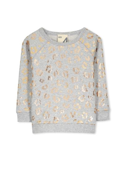 Sage Raglan Sweater, LIGHT GREY MALE/ANIMAL FLORAL