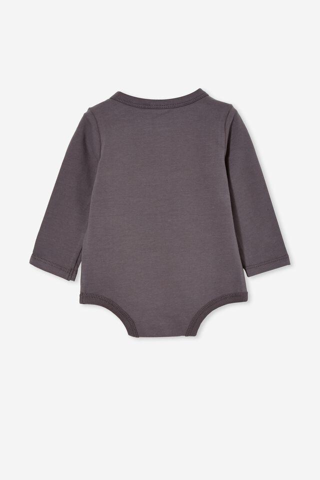 The Long Sleeve Bubbysuit, RABBIT GREY