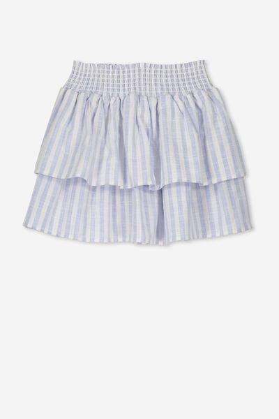 Gracie Skirt, BLUE/WHITE VERTICAL STRIPE