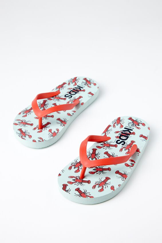 Printed Flip Flop, B LOBSTERS