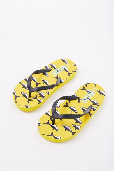 Printed Flip Flop, B SHARKS