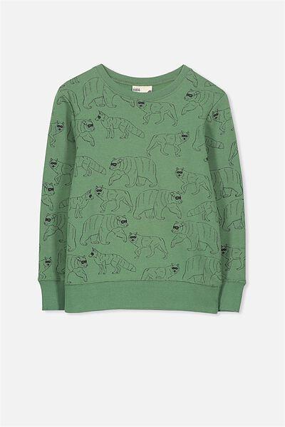 Lachy Crew Sweater, GABBY GREEN/BANDITS