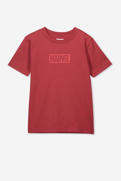 Co-Lab Short Sleeve Tee, LCN MAR AURORA RED/MARVEL