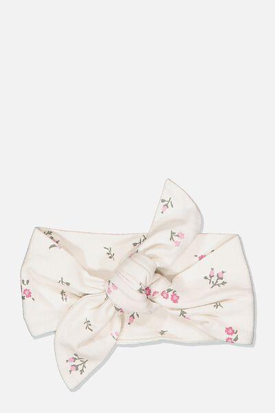The Tie Headband, DARK VANILLA/FLORAL FIELDS