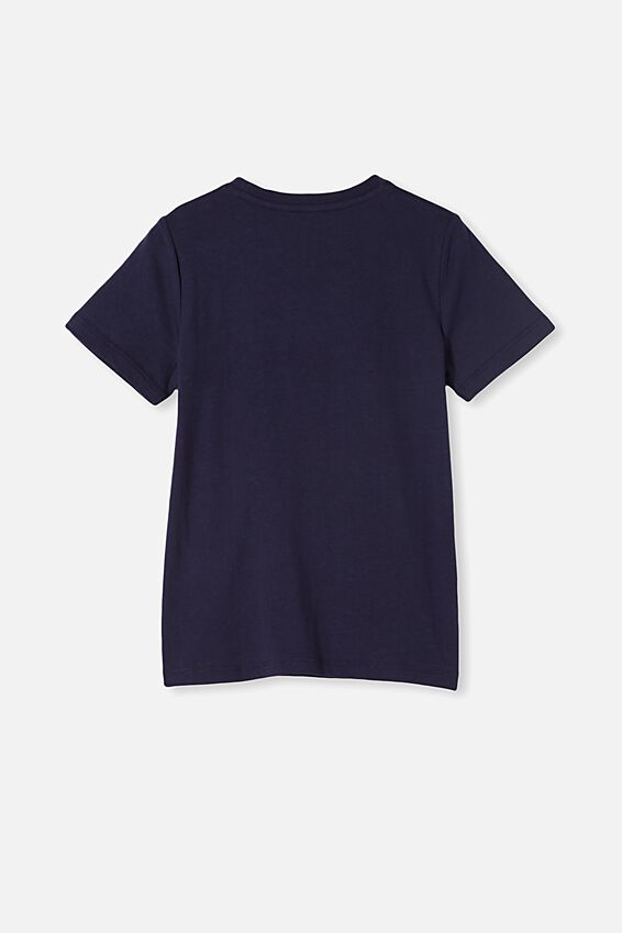 Penelope Short Sleeve Tee, INDIGO/DON T STOP BELIEVING
