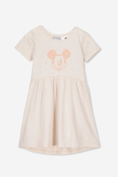Freya Short Sleeve Dress, LCN DIS BLUSH MARLE/MICKEY WINK