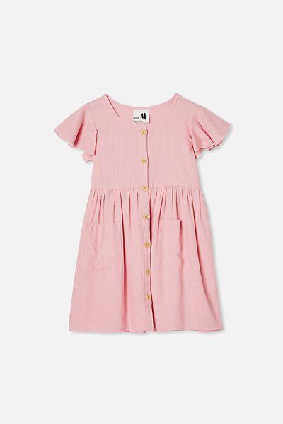 Vanessa Short Sleeve Dress, MARSHMALLOW
