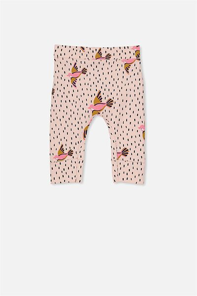 Mini Legging, SHELL PEACH/FLYING BIRDS