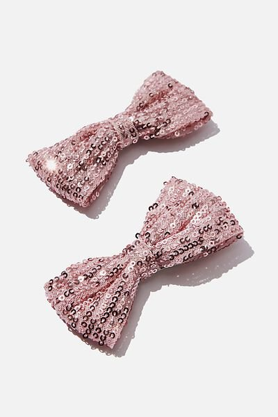 Big Bow Clips, SWEET BLUSH SEQUIN