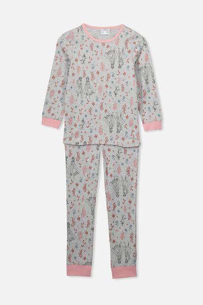 Ruby Long Sleeve Girls Pyjamas, LCN DIS FROZEN/BOTANICAL