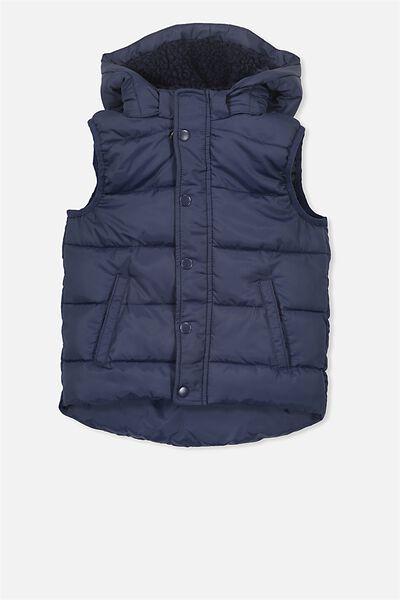 Palmer Puffer Vest, WASHED NAVY