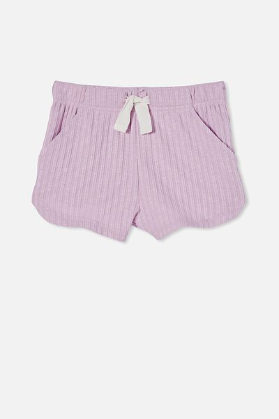 Gianna Knit Short, PALE VIOLET RIB