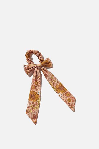 Bow Scrunchie, PEACHY / GARDEN BEES