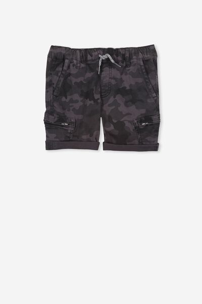 Jango Walk Short, BLACK WASH CAMO