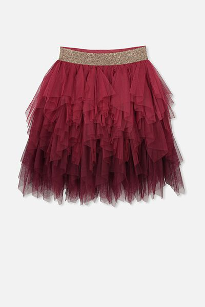 Tori Tulle Skirt, BERRY GRADIENT