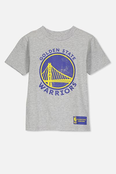 Co-Lab Short Sleeve Tee, GREY MARLE/GOLDEN STATE WARRIORS