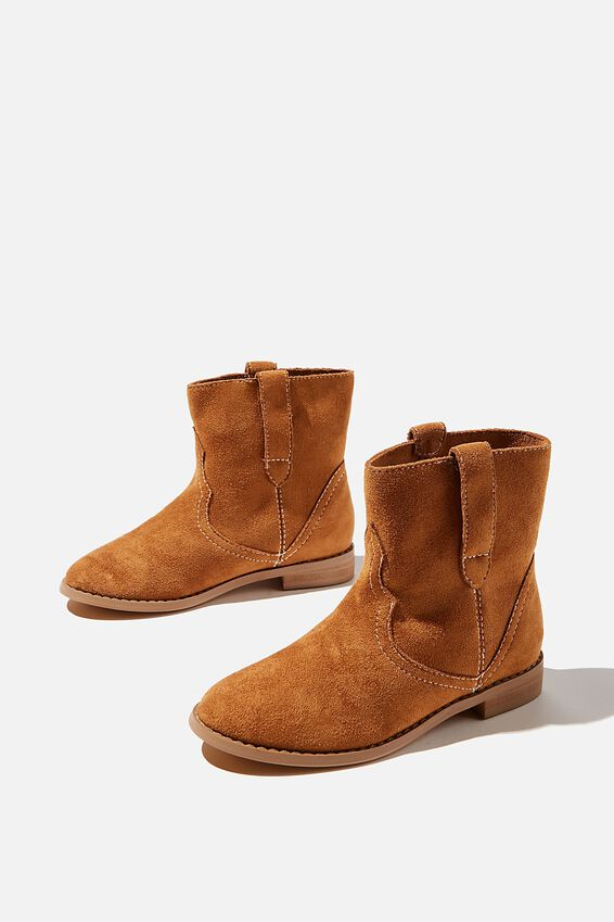 Slouch Western Boot, TAN